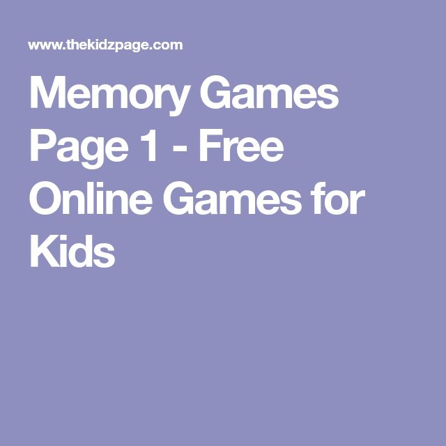 Memory Games Page 1 - Free Online Games for Kids