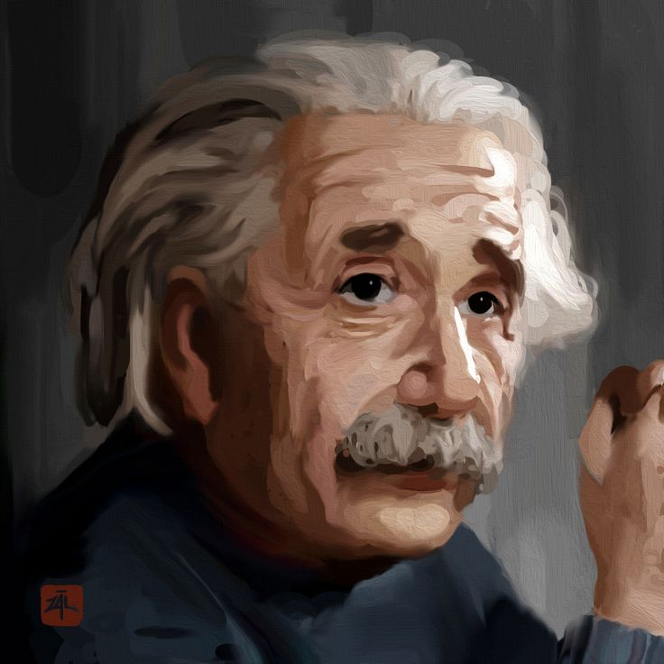 Pop portrait of Einstein