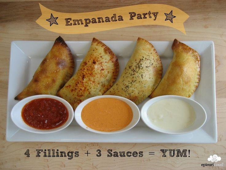 April 8th is National Empanada Day!  Celebrate by making some!!  4 great recipes (+ 1 vegetarian) @epicuricloud, Christina Verrelli, Christina Verrelli.com