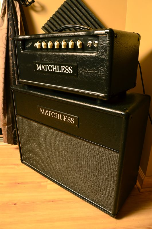 matchless chieftain 97 head and 2x12 cab cool amps. Black Bedroom Furniture Sets. Home Design Ideas