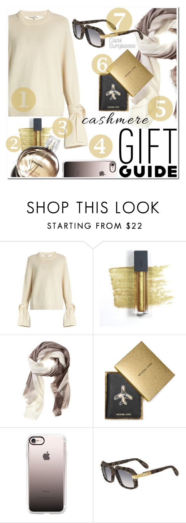 """""""Gift Guide: Besties"""" by smartbuyglasses-uk ❤ liked on Polyvore featuring TIBI, Bite, Banana Republic, Chanel, MICHAEL Michael Kors, Casetify, Cazal, giftguide, sunglasses and besties"""