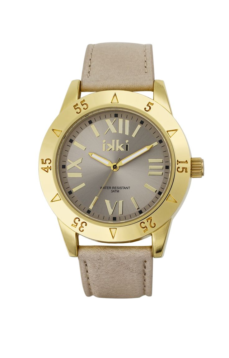Horloge, goud, taupe, watch, taupe, gold, ikki fashion, ikki style