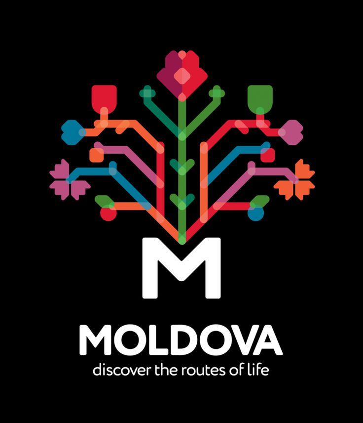 This Moldovan logo looks interesting when presented in this manner but in one single tone it would lose its edge and detail which is what makes it great and emphasises why it is important to take a look at a logo in black and white.