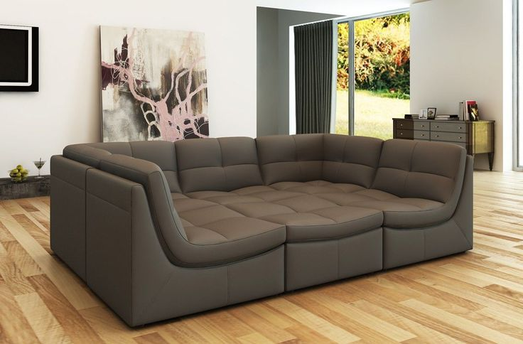"Divani Casa 207 Modern Grey Bonded Leather Sectional Sofa - VGEV207-GRY $1930  Product : 72289  Features :  Set Includes: 2 Corners, 3 1 Seaters & 1 Ottoman Upholstered In Bonded Leather Color: Grey HX001-35 Modular Set (No Connectors) Available In Other Upholstery By Special Order (10-16 Weeks) Dimensions :  Sectional Sofa :   1 Seater: W28"" x D37"" x H33"" Corner: W37"" x D37"" x H33"" Ottoman: W28"" x D28"" x H17"" Seat Depth: 22"" Seat Height: 18"""