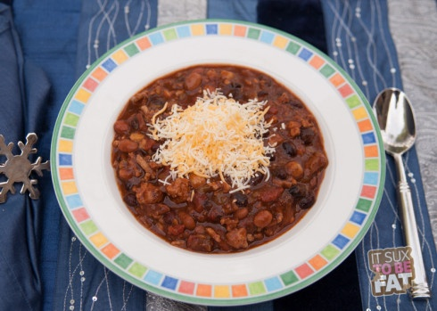 Crock Pot Three Bean Turkey Chili - Recipe - It Sux To Be ...