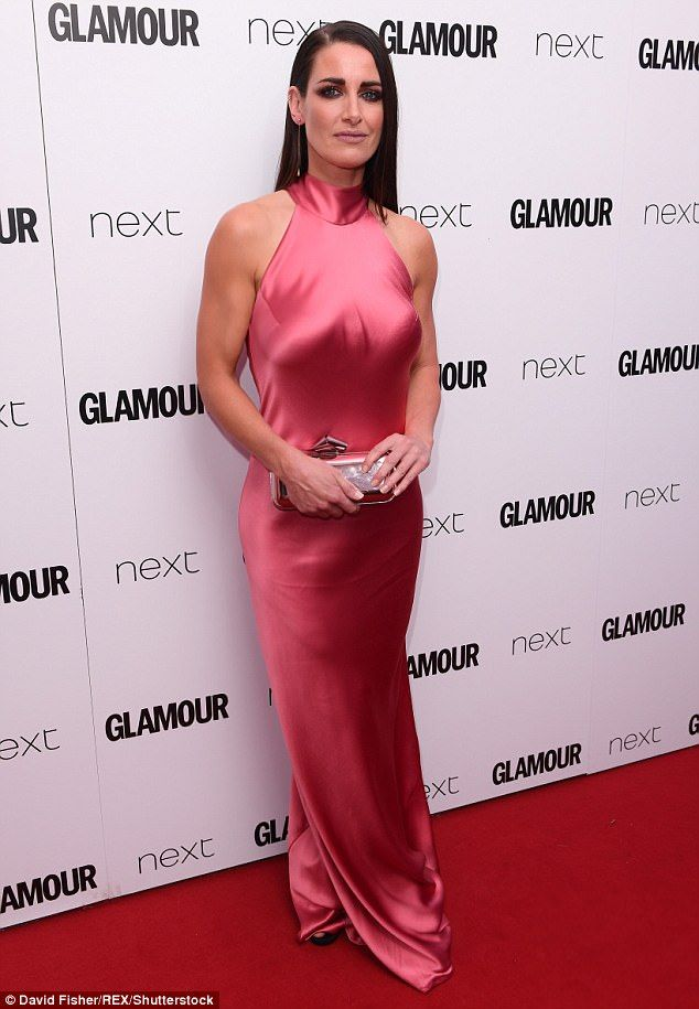 Looking good; Kirsty Gallachercaught the eye in a neon pink gown as she made an entrance at theGlamour Women of Year Awards on Tuesday evening