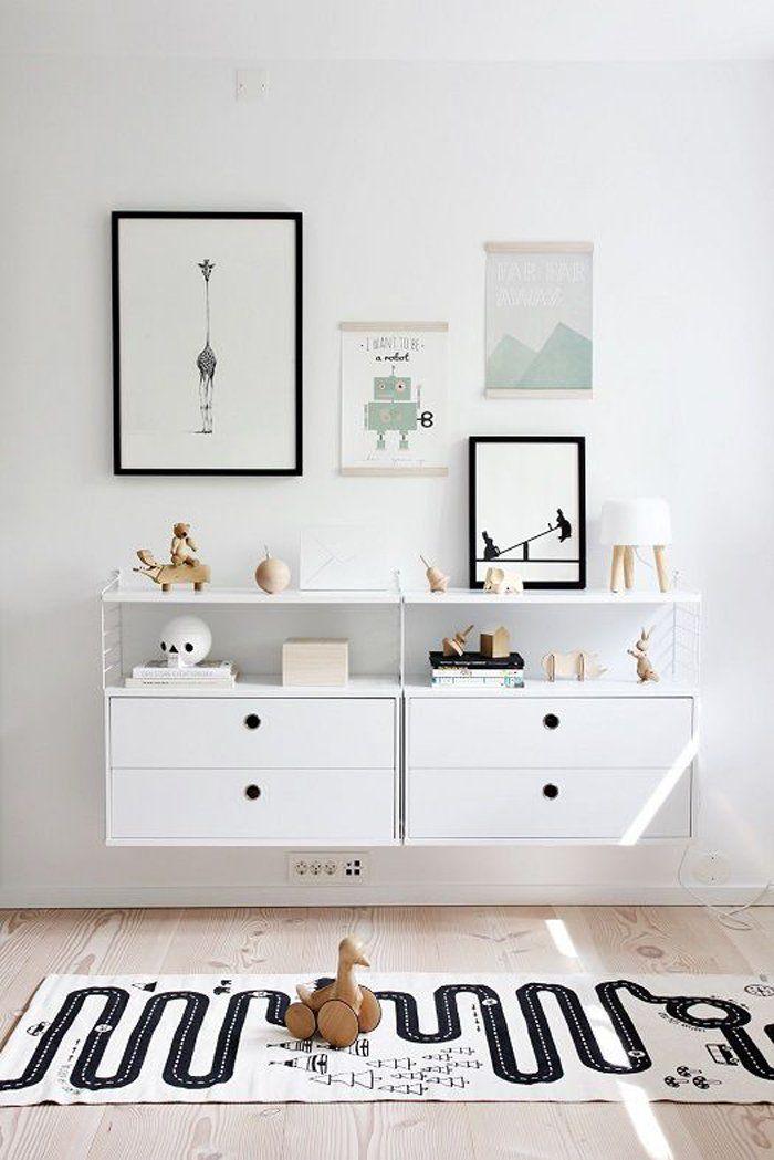 10 chambres d'enfants au look black & white - FrenchyFancy - tapi OYOY sur POPLINE