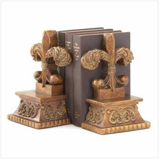 $29.95- Bring the centuries-old symbol of perfection, light and life to your bookshelf with this aged fleur-de-lis bookend set.