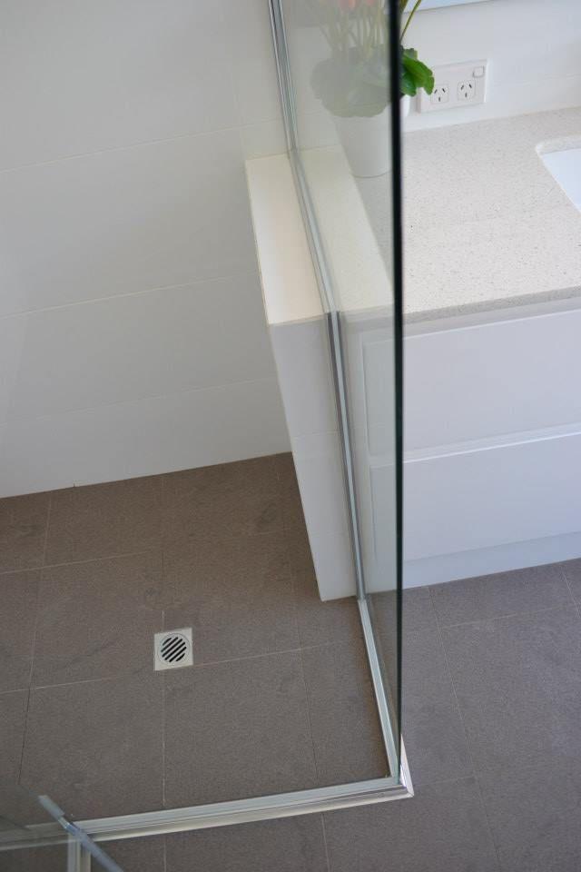 One Brick Nib Wall ( Wall Tiles)   Bathroom Renovation Success  Perth Best Bathrooms  On the Ball Bathrooms