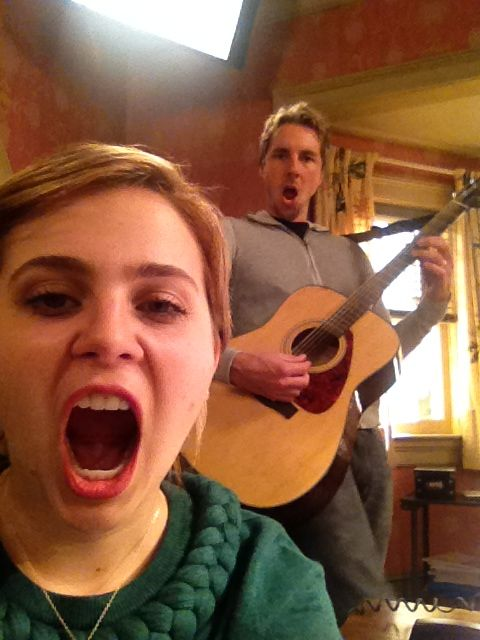 Mae Whitman and Dax Shepard #Parenthood This show has great music and real  emotional family life and I just realized that she is the voice of tinker bell. OMG!