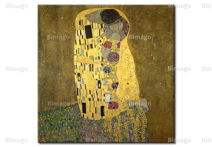 Gustav Klimt - The Kiss, canvas art painting