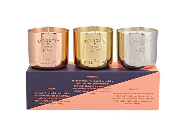 Eclectic Scent Candle Gift Set with packaging, tom dixon