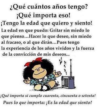 Mafalda. Cumplir años.