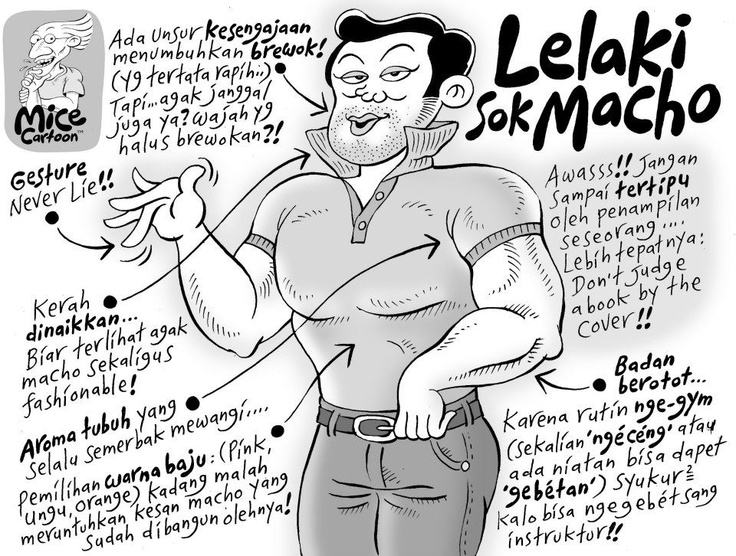Mice Cartoon (Kompas, April 2012): Lelaki Sok Macho