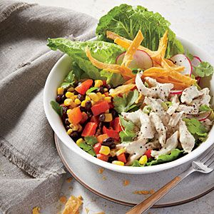 Chicken Taco Salad | Using rotisserie chicken helps you pull this convenient dish together in a flash.