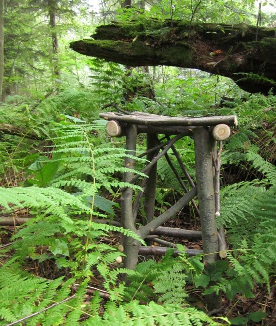 Twig Table Handmade OOAK Sweet Birch Wood Rustic End Table ...