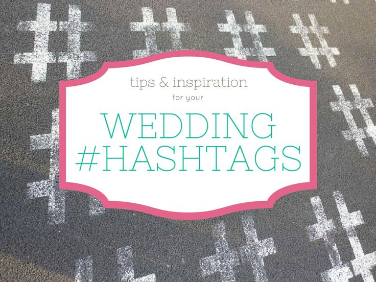 Wedding hashtags: they're not just for hipsters. Having your own hashtag is one of the easiest ways to not only collect extra photos from your guests, but also to share your event with people who h...