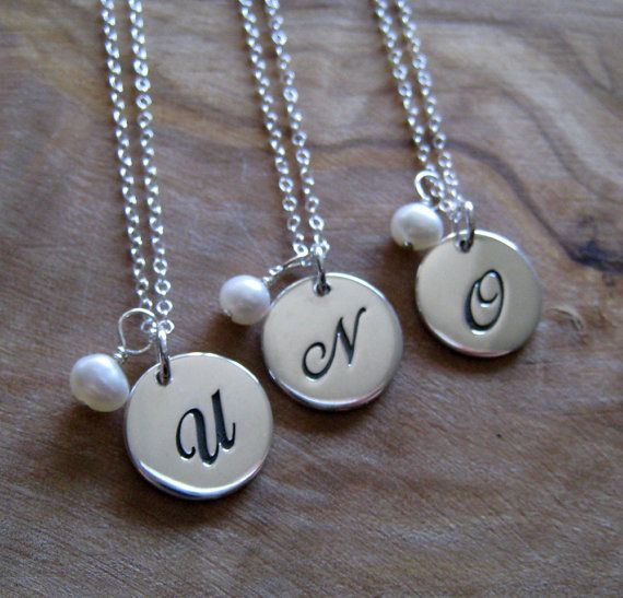 Bridesmaid necklace idea