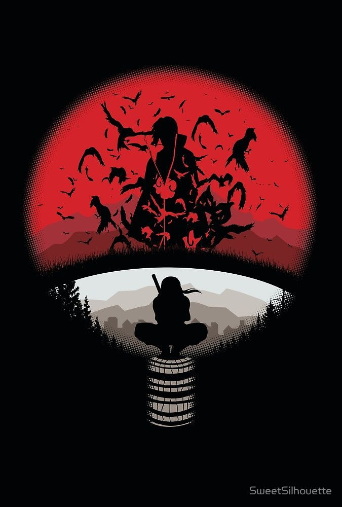 Uchiha Clan Symbol mashup with Itachi