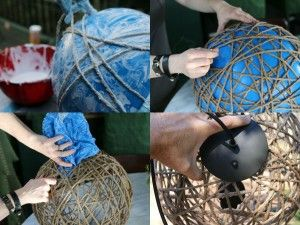 Dekoratif Avize Yapımı  Malzemeler Balon – İp – Tutkal – Tükenmez kalem