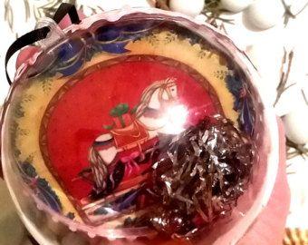Rocky Horse, Christmas Tree Ornaments, X-mas Gifts, Christmas Gifts, Transparent Christmas tree ball, November finds, Horses Decor, X-mas - Edit Listing - Etsy