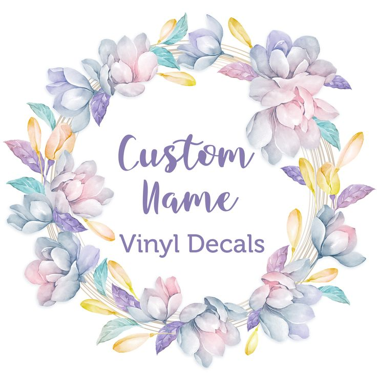 Custom name decal vinyl decals name decal custom name personalized name vinyl decal vinyl sticker vinyl name decal laptop decal