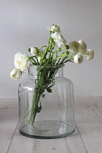 Glass Jar Vase - Small or Medium