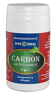 Medizinische Aktive Kohle 60 Kapseln je 250 mg mit rein natürlichen Pulver, ohne Zusatzstoffe