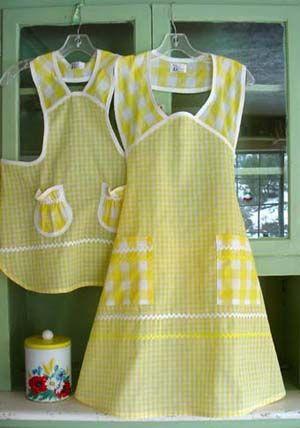 Beautiful vintage style aprons.  Stitchthrutime.com