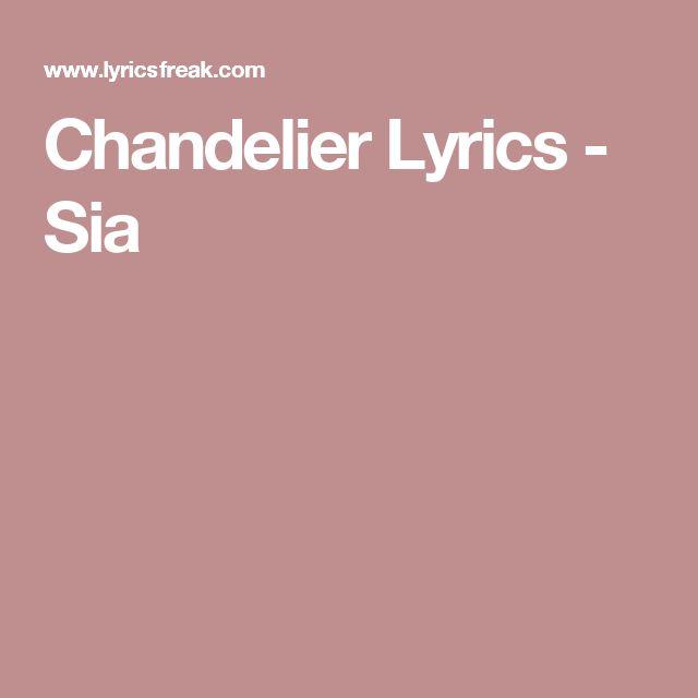 Chandelier Lyrics - Sia