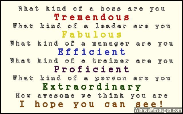 45 best Boss and Colleagues: Quotes, Messages and Poems ...