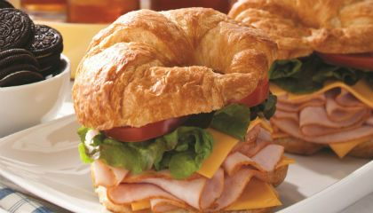 Castle Wood Reserve® Croissant Sandwich?.. Awesome, but we use coarse ground or sweet and spicy deli mustard instead of mayo..