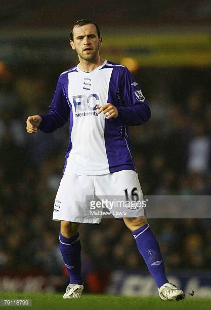 New signing James McFadden of Birmingham City looks on during the Barclays Premier League match between Birmingham City and Chelsea at St Andrews on...