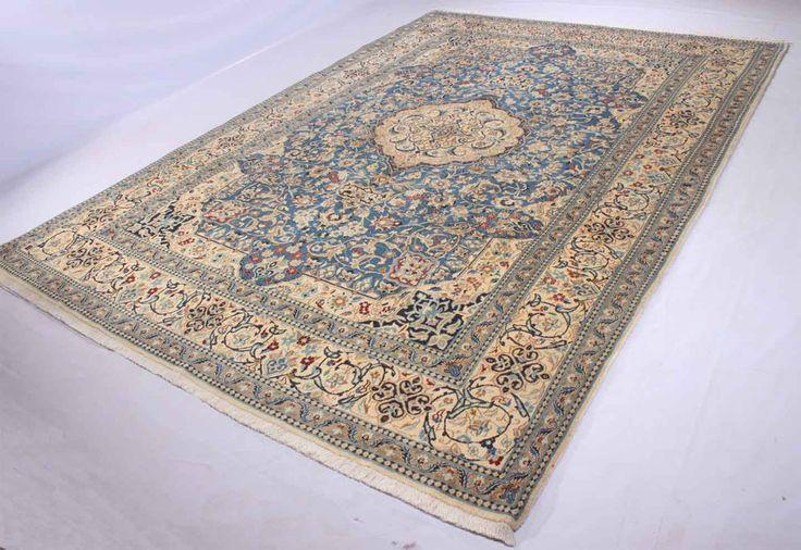 Nain with silk oriental rug 337 x 240 cm ,orientteppich  Perser  tappeto Orient