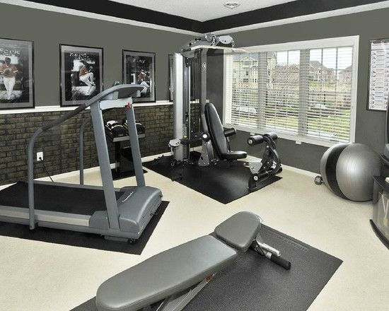 how to achieve a faux brick wall home gym designbasement - Home Gym Design