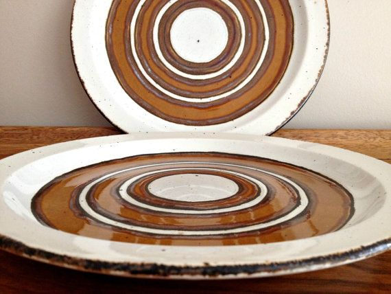 Midwinter Stonehenge Dinnerware Earth Pattern Tableware Pottery . These rustic dinner plates were made by Midwinter Stonehenge from 1973 to