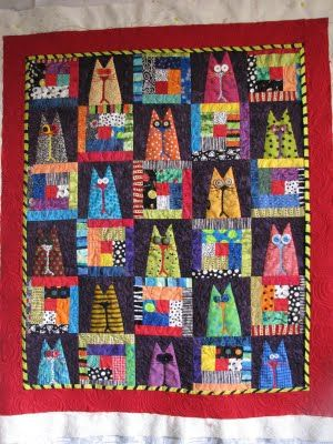 kitty cats .... I am soooo loving these cat quilts that I have just pinned ~ kitteh !!