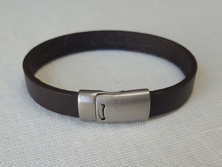 Chocolate Brown Men's leather bracelet