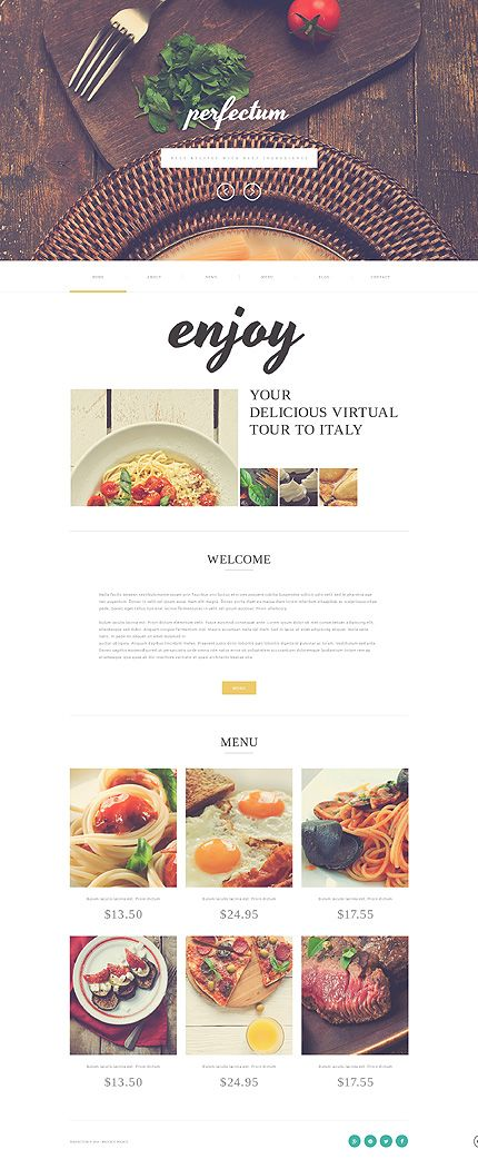 restaurant website design. #webdesign