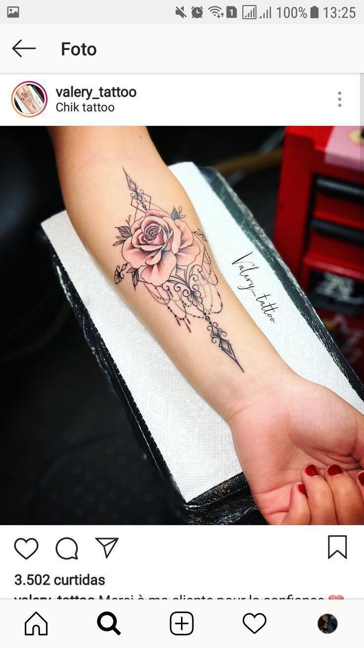 Rose Mandala Tattoo In 2020 Skull Rose Tattoos Rose Tattoo Forearm Rose Tattoos For Women