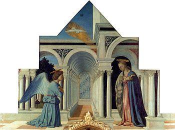 222.137 Piero della Francesca Annunciazione (dal Polittico di Sant'Antonio)