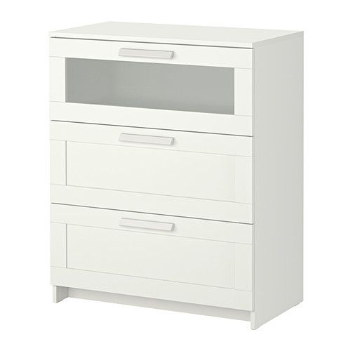 Ikea Nursery Ideas Furniture ~   for the vessel sink Guest Room, Glass, White, Chest, Drawers, Ikea