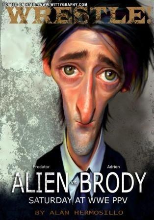 Las mejores caricaturas de actores famosos adrien brody
