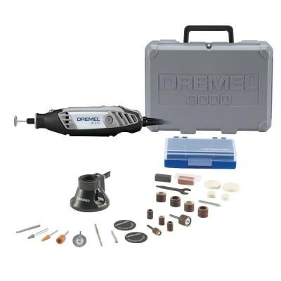 Dremel 3000 Series Variable Speed Rotary Tool Kit-3000-1/25H at The Home Depot