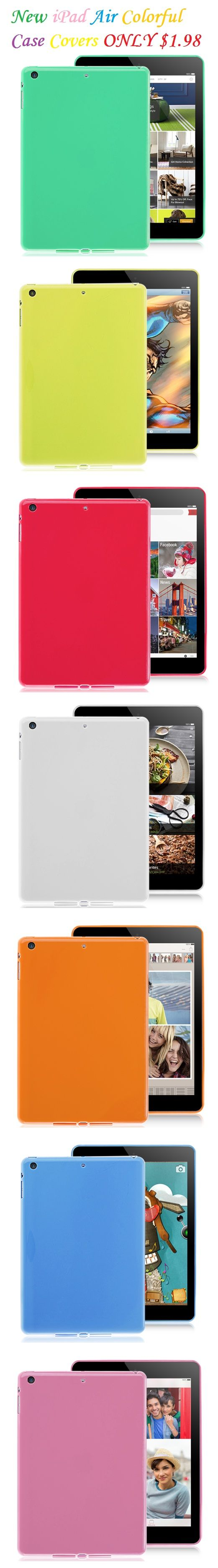 New iPad Air TPU Solid Colorful Case Covers #ipadaircase #ipadair #ipadcase #casecover #tpucase #colorfulcase #popularcase #bestoftheday #300likes #photooftheday #pinterest #lovelycase #cute #colorful #case #cellz.com #cheapcase $1.98