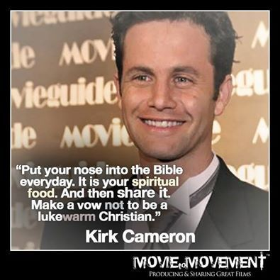 I look forward to the day when nobody on this earth will ridicule Kirk Cameron's devotion to God. HE IS AWESOME!