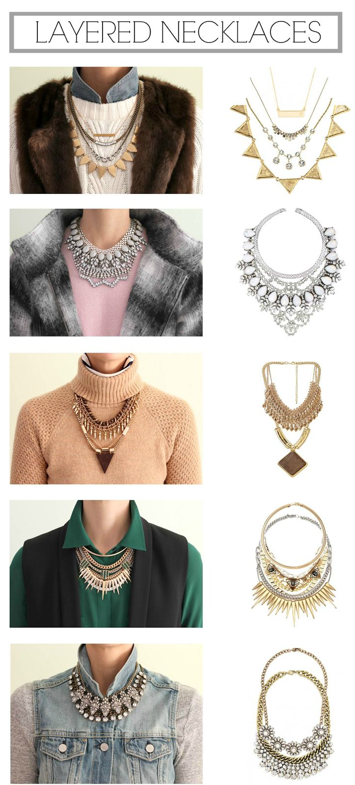 How to layer necklaces (hint: you need necklace extenders to get the perfect length)