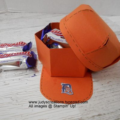 Baseball cap treat holder