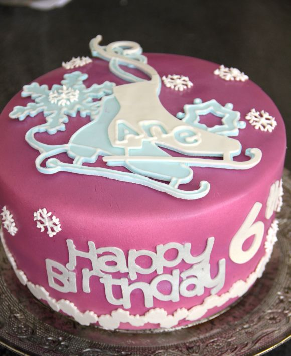 Ice Scating Cake