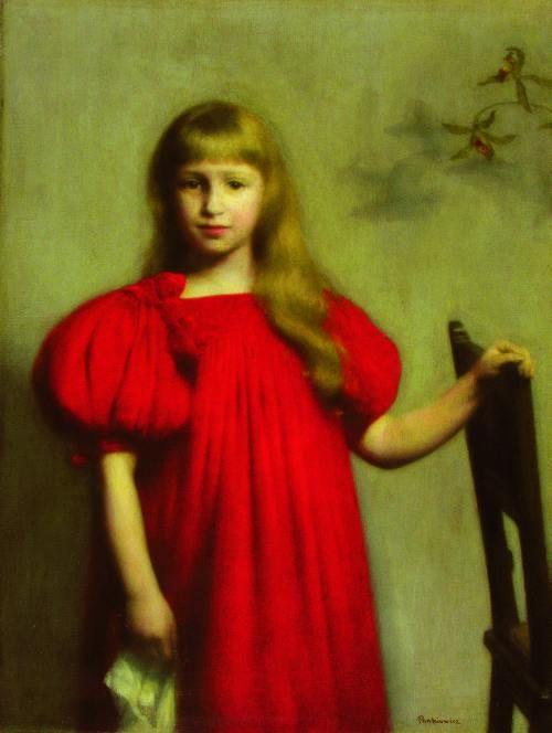 Pankiewicz-Portret dziewczynki w czerwonej sukni (Józefy Oderfeldówny) 1897